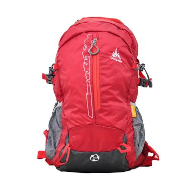 One Polar 9656 Tas Ransel Laptop Hiking + Rain Cover - Red