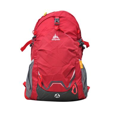 One Polar 9659 Laptop Tas Ransel Hiking with Rain Cover - Red