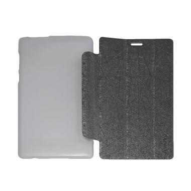 QCF Leather Bookcover Flip Cover Casing for Lenovo Tab 2 A7-10 - Abu