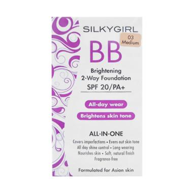 Silkygirl Brightening BB 2-Way Foundation - 03 Medium