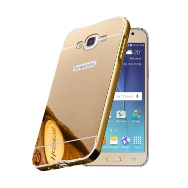 Bumper Mirror Sliding Casing for Samsung Galaxy J7 - Gold