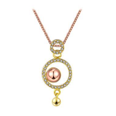 Bella & Co Necklace LKN18KRGPN566 Aksesoris Kalung Lapis Emas