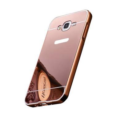 OEM Bumper Mirror Sliding Casing for Samsung Galaxy J710 J7 2016 - Rose Gold