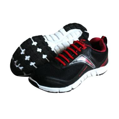 RecordShoes Motionflex Sneaker Shoes - Black Red
