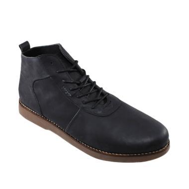 SAUQI Kulit Asli CH Sepatu Boots - Brodo Black