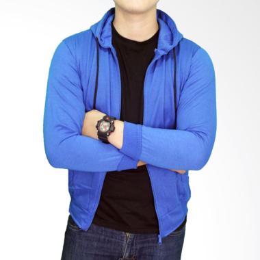Gudang Fashion JAK 2212 Fleece Distro Jaket Pria - Navy