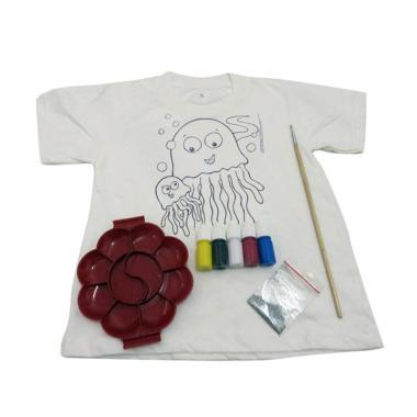 Kaos Djuren Mewarnai Edisi Keluarga Gurita T-shirt
