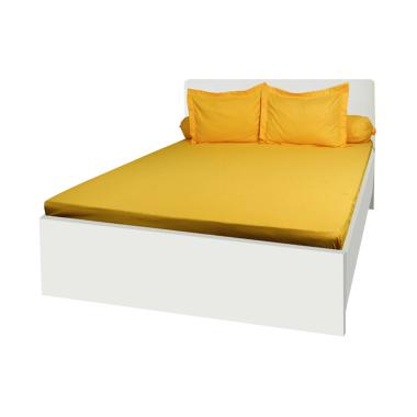My Love Full Heart Polos Set Sprei - Yellow [180 x 200 x30 cm]