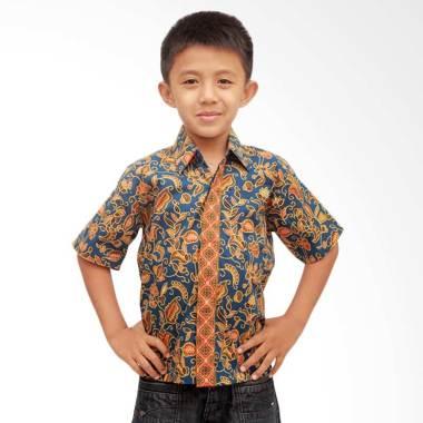 Aamir Kinsler BA13 Kemeja Batik Anak - Biru