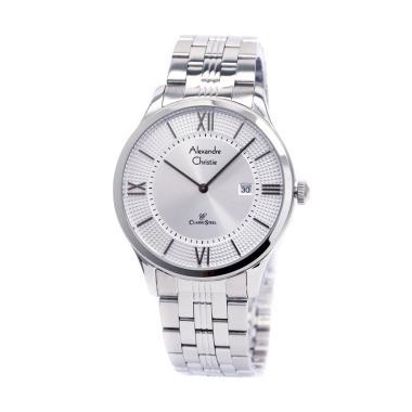 Alexandre Christie 8503 Jam Tangan Pria - Silver