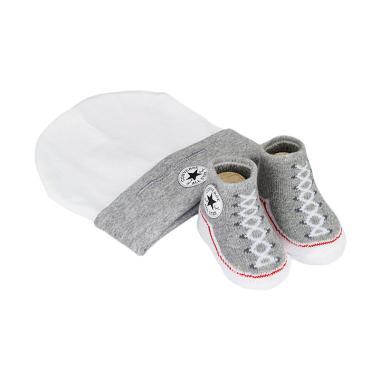 Converse 694819 Booties & Hat Set Perlengkapan Bayi - Grey