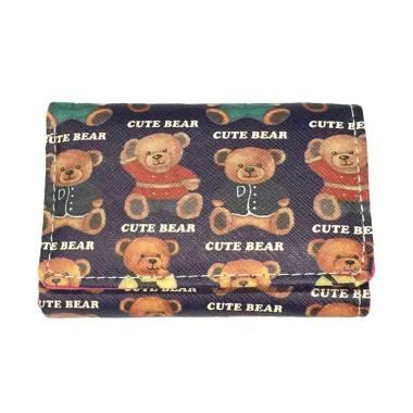 Fancy B Fashion Korea 912 Dompet Wanita - Small Navy Cute Bear