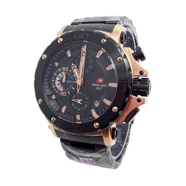 Swiss Army Chrono [SA X-00231] Jam Tangan Casual Pria - Black Gold