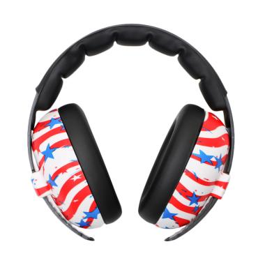 Baby Banz Earmuff Mini Baby US Flag Pelindung Telinga Bayi - White Red [0-3 Years]