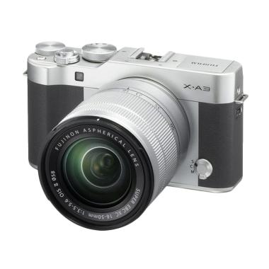 Fujifilm X-A3 Kit Lens 16-50mm Kamera Mirrorless - Silver