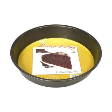 Master Pastry Non-Stick Round Cake Pan [9 Inch] Silver
