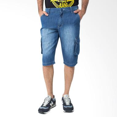 People's Denim Men Cargo Short Lector Celana Pria