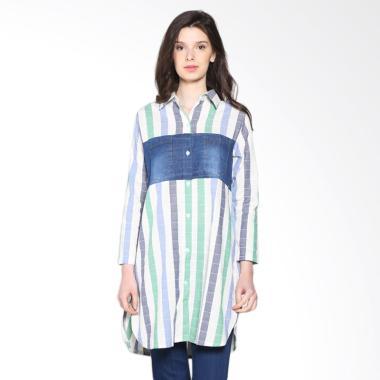 carte_carte-denim-block-stripes-shirt-atasan-wanita---blue-green_full06 Ulasan Harga Atasan Wanita Denim Termurah saat ini