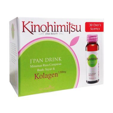 Kinohimitsu J'pan Beauty Drink Collagen Minuman Kesehatan [16 botol]