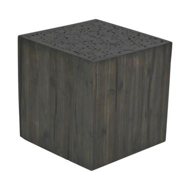 De Erniest Grayson Side Table Meja Sudut - Grey Wash