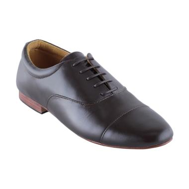 Eclipse 7 Athens Formal Cap Toe Leather Men Shoes - Brown
