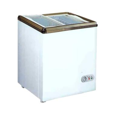 GEA SD-100 Sliding FLat Glass Chest ... 100 L/Khusus Jabodetabek]