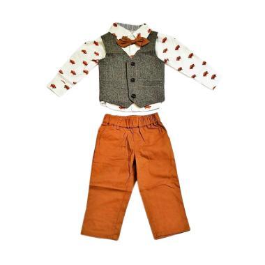 GBS B-Bears 4in1 Print Fox Set Vest Setelan Anak Laki-laki - Grey
