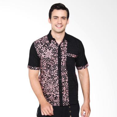 Jogja Batik Hem Kombinasi Batik Pria Genta Dusty Pink