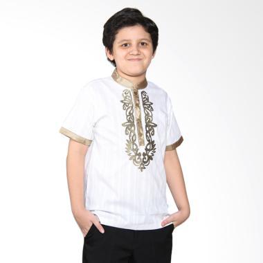 Versail Kids Junior M 7094 Baju Koko Putih Pendek Anak - White