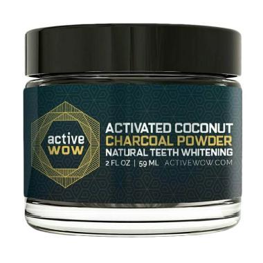 Active wow Activated Charcoal Powder Pemutih Gigi