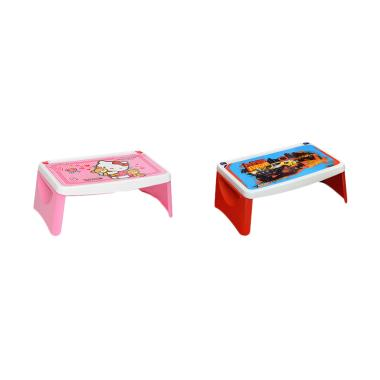 Napolly KTBF Hot Wheels Paket Meja Gambar - Pink Merah [2 pcs]