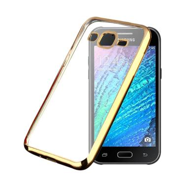 Ultrathin List Chrome Softcase Casing For Samsung Galaxy J2 - Gold