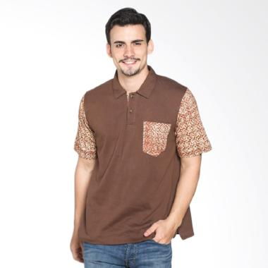 Fafa Collection BOYS 003 Kaos Polo Batik Pria - Coklat