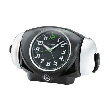SEIKO QHK045K Lumibrite Quiet Sweep Loud Alarm Clock - Black