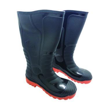 Steffi Sepatu Safety Boots - Hitam Orange