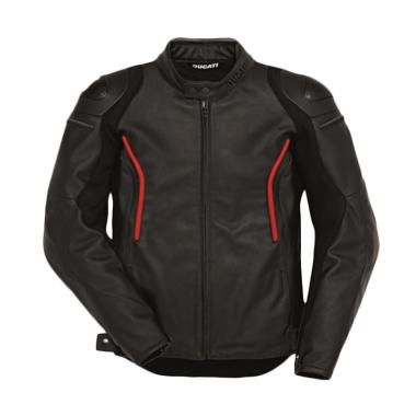 Ducati Stealth C2 Leather Man Perforated Jaket Motor - Black