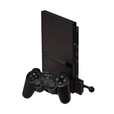 Sony Playstation 2 Slim 9006 Optik Game Console - Hitam [HDD 40GB/Refurbished]