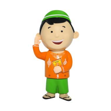 Al Qolam Hafiz Doll New Bilingual Mainan Anak - Hijau Orange