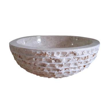 Galaxy Stone Alpera Crema Batu Alam Wastafel - Cream