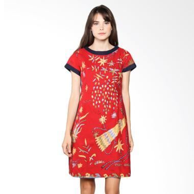 Karya Batik Sabrina Classic SCD Red Dress Wanita - Merah