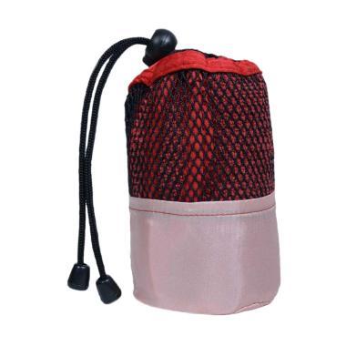 Mipacko Microfiber Handuk Olahraga + Bag - Red [30 x 70 cm]