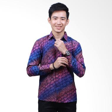 Parama Batik Lily Slim Fit Kemeja Lengan Panjang - Ungu