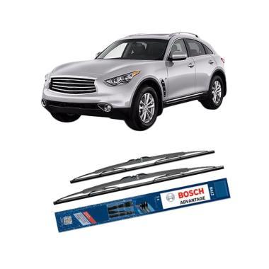 Bosch Advantage Wiper Kaca Depan Mobil for Infiniti FX-Serie
