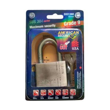 American Tool Secure Grade 9 SUS 304 Series Gembok [60 mm]