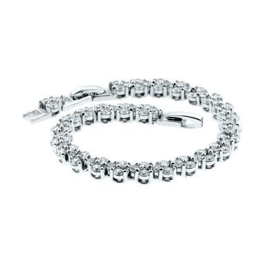 Anna Silver Listring SWB-004 Bracelet Wanita - Silver