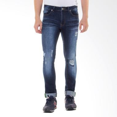 People's Denim Men Jeans Macko RU R ... elana Panjang Pria - Biru
