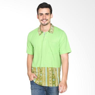 Fafa Collection Kerah Batik Boys 002 Kaos Polo Pria - Hijau Muda