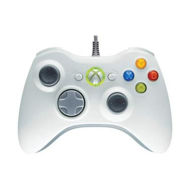 Microsoft Xbox 360 Wired Stick Controller for PC - Putih