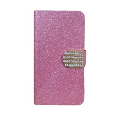 OEM Case Diamond Cover Casing for Oppo Joy Plus R1001 - Merah Muda