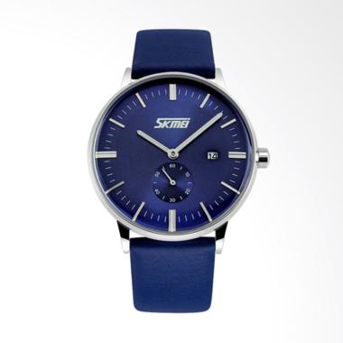 Skmei Classic Anti Air Waterproof J ... Analog - Dark Blue [9083]